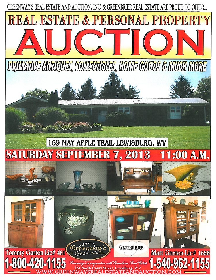 Lewisburg, WV Auction