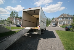 Moving Truck In Driveway