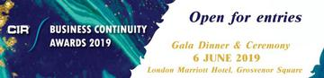CIR Business Continuity Awards 2019 - 6th June 2019