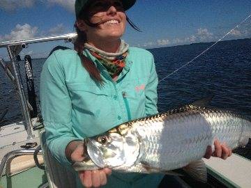 Mandi with her first tarpon!