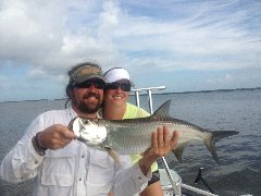Chris with his first tarpon!