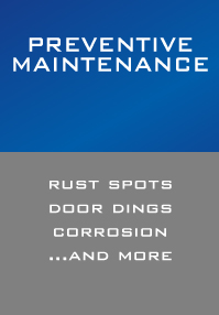 Preventive Maintenance, Rust Spots, Door Dings, Corrosion