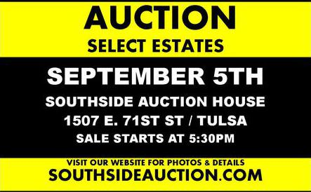 SOUTHSIDE AUCTION CO  - A TULSA TRADITION SINCE 1956