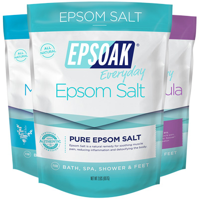 Ultimate Epsoak Epsom Salt Bundle - Relax Bath Salts - 2lb Bag