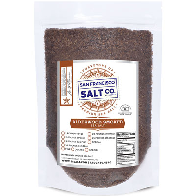 Smoked Alderwood Salt - 10 lb Bag - Coarse Grain