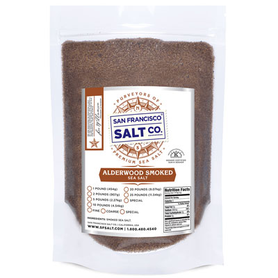 Smoked Alderwood Salt -  Fine -10lb Bag