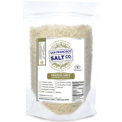 Coarse Grain French Grey Salt - 10lb Value Bag - Bulk Salt