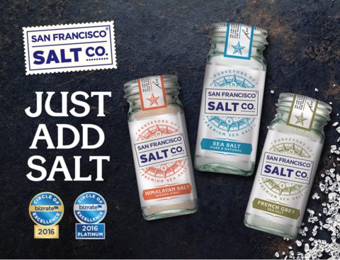 San Francisco Salt Company Outperforms Again with Bizrate's Prestigious Platinum Award