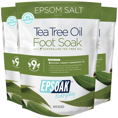 Epsom Salt Tea Tree Oil Foot Soak 3 Pack