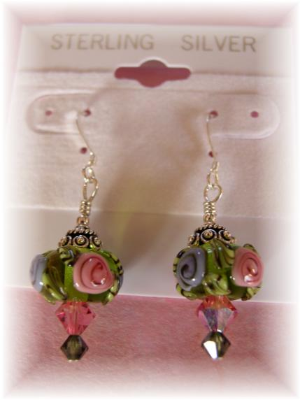 Lampwork Sterling Earrings