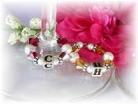persoalized wine glass charms