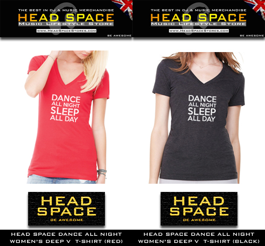 Womens Music and DJ T Shirts - Head Space Womens and DJ T Shirts