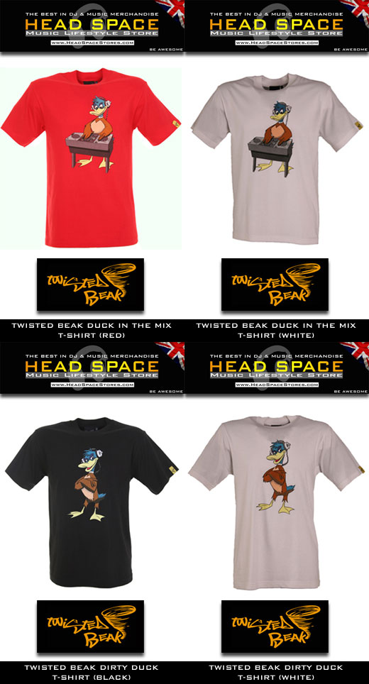 Twisted Beak T-Shirts - DJ and Music T-Shirts - Head Space Stores