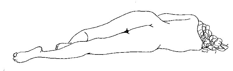 Sketch of Woman Sleeping, by John Entrekin