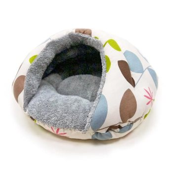 dogo cave like designer dog bed with leaves