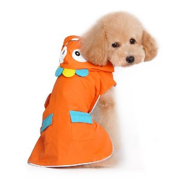orange Dogo Pet Monster Raincoat