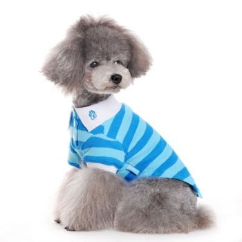 Preppy striped dog polo
