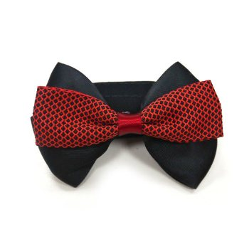 black and red dog easybow collar bowtie