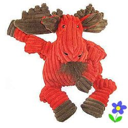 HuggleHound Knotties Moose small puppy toy