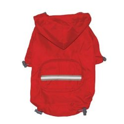 red dog raincoat with pocket