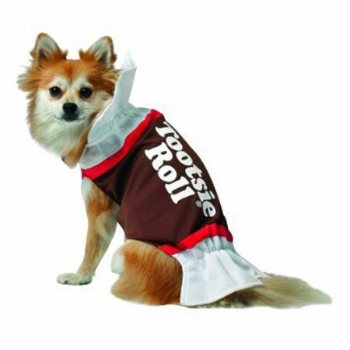 brown Tootsie Roll candy Pet costume