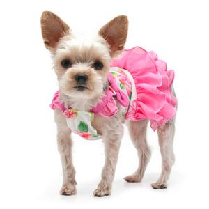 pink summer dogo dog dress