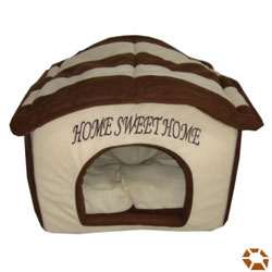 brown home sweet home small plush dog house