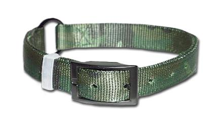 Leather Brothers Camouflage Nylon Dog Collar with D-Ring in the front or Ring in the center.