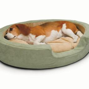 K&H Manufacturing Thermo Snuggly Sleeper Heated Dog Bed