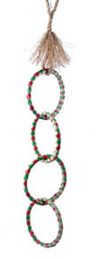 Planet Pleasures Four Rings Chain bird toy