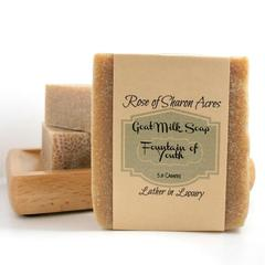 Fountain of Youth Goat Milk Soap - Rose of Sharon Acres
