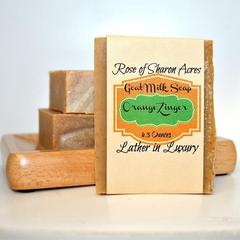 Orange Zinger Goat Milk Soap