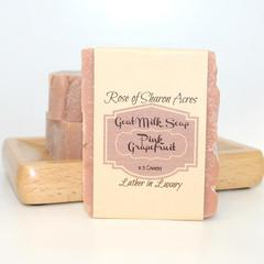 Pink Grapefruit Goat Milk Soap - Rose of Sharon Acres