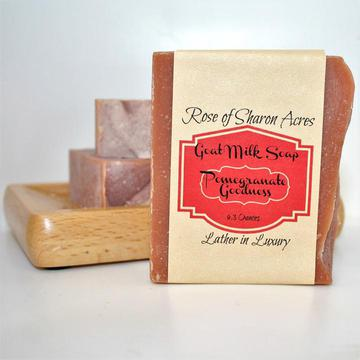 Pomegranate Goat Milk Soap - Rose of Sharon Acres