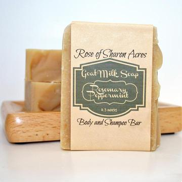 Shampoo bar for dry scalp Rosemary Peppermint