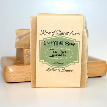Tea Tree Lavender Goat Milk Soap - Rose of Sharon Acres
