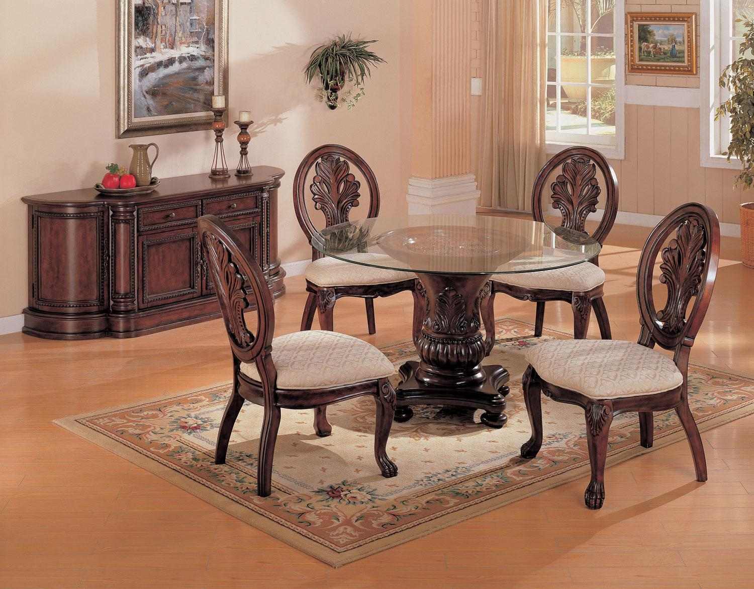 Round Dining Room Table Set - Formal Dining Room Table and Chairs - LaPorta Furniture - Discount Online Furniture