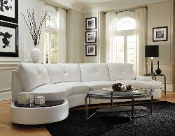 White Sectional Sofa - Leather Sectionals - Sectionals with Built  In Table - Discount Online Furniture