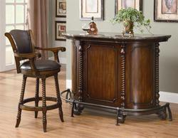 Cherry Home Bar - Discount Home Bar Furniture - Wine Bar Furniture - LaPorta Furniture - Discount Online Furniture Stores
