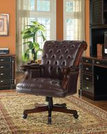 Traditional Leather Office Chair - Executive Leather Office Chair - Discount Leather Office Chair - Burgandy Leather Chair - LaPorta Furniture - Online Discount Furniture