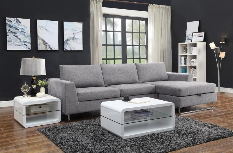Darcy Grey Chenille Reversible Sectional