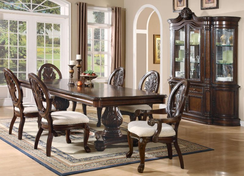 Wood Dining Sets - Formal Dining Room Furniture - Cherry Dining Room Table and Chairs - LaPorta Furniture - Discount Online Furniture