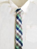 Mint and Navy Tie