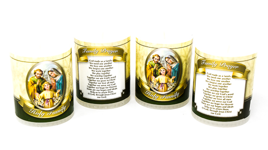 Votive Candle's Holy Family.