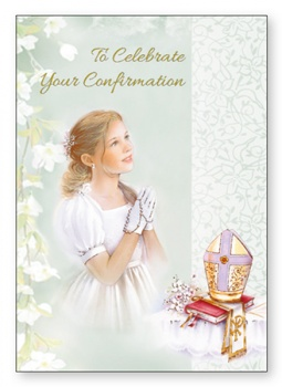 Confirmation Card for a Girl.