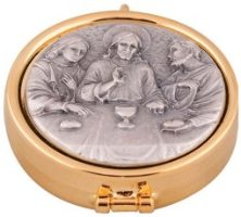 Antique Silver Last Supper Pyx.