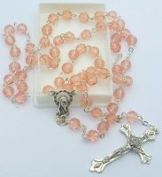 Birthstone Rosary Beads - October.