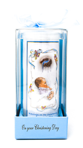 Christening Candle For a Boy.