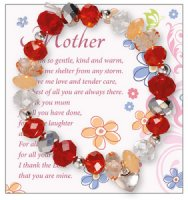 Mother Glass Bracelet With Charm.