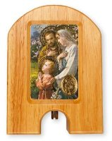 Holy Family Wood Holy Water Dispenser.
